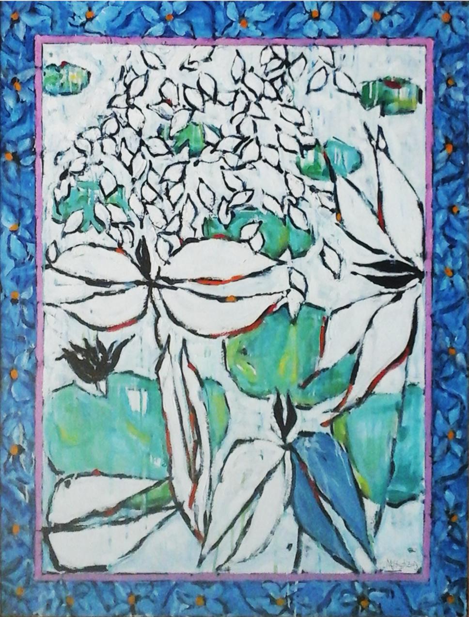 óleo sobre lienzo del artista d Manchester Frank Mc Hugh